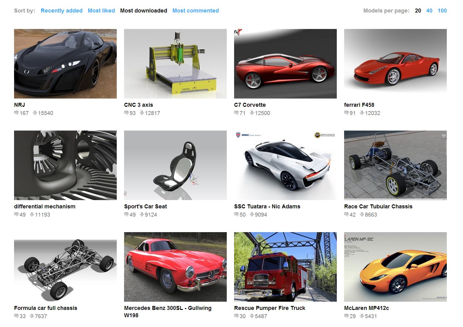 3Dデータ共有サイト